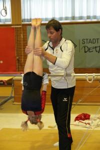 Michael Gruhl bei der Trainingsarbeit Foto: H.-J. Dörrer